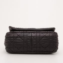 Dior Black Cannage Quilted Large Flap Shoulder Bag