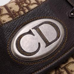 Dior Brown Denim Logo Hobo