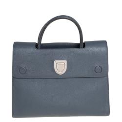 Dior Grey Pebbled Leather Medium Diorever Tote