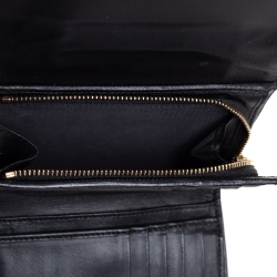 Dior Black Leather Diorama Compact Wallet