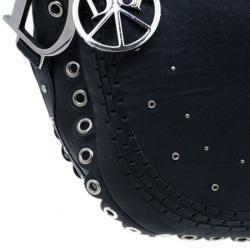 Christian Dior Black Studded Leather Shoulder Bag