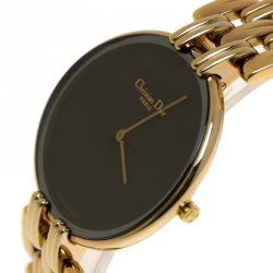 Christian Dior Black Gold Plated Bagheera Black Moon D47-154-4 Women's Wristwatch 32 mm
