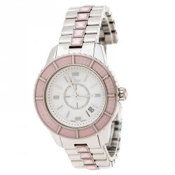 c2752f77cf Dior Mother of Pearl Stainless Steel Christal CD113114 Women's Wristwatch  33 mm