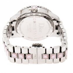 Dior Mother of Pearl Stainless Steel Christal CD113114 Women's Wristwatch 33 mm
