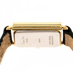 Christian Dior Light Grey Gold Plated 58.122.2 Women's Wristwatch 20 mm