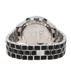 Dior Black Stainless Steel Diamonds Christal CD11431C Women's Wristwatch 38 mm