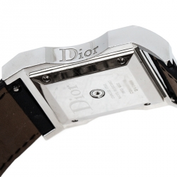 Dior Silver Stainless Steel Diamonds Chris 47 CD033112 Women's Wristwatch 30 mm