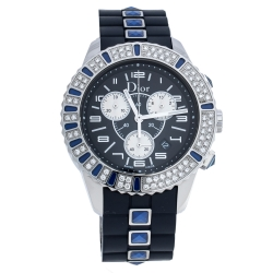 Dior Blue Stainless Steel Christal CD114311 Women's Wristwatch 38 mm
