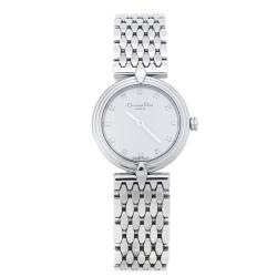 Dior White Stainless Steel D68-100 Women's Wristwatch 25 mm