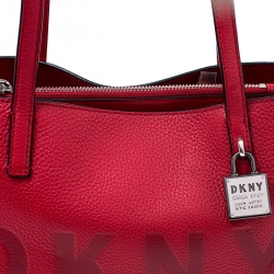 DKNY Red Leather Commuter MD Tote