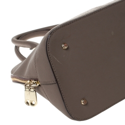 DKNY Taupe Leather Dome Satchel