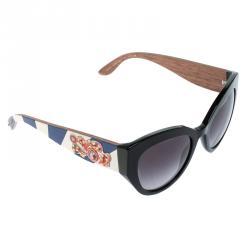 eeb5a10deec Dolce and Gabbana Black DG 4278 Sicilian Carretto Cat Eye Sunglasses