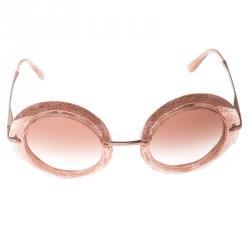 Dolce and Gabbana Pink/ Brown Gradient DG 6105 Round Sunglasses