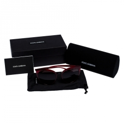 Dolce & Gabbana Burgundy/Black Gradient DG 6113 Cateye Sunglasses