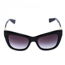 Dolce and Gabbana Black Special Edition Mosaico Cat Eye Sunglasses