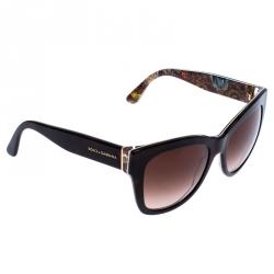 Dolce & Gabbana Havana/Brown Gradient DG4270 Sicilian Carretto Cateye Sunglasses