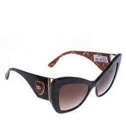Dolce & Gabbana Brown Gradient/Havana DG4349 Sunglasses