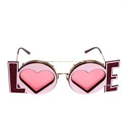 Dolce & Gabbana Red/Gold DG2217 LOVE Sunglasses