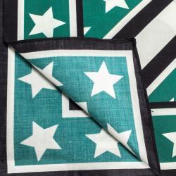Dolce & Gabbana Black/Green Print DG Queen Silk Scarf