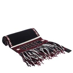 Dolce & Gabbana Multicolor DG Mania Print Knitted Knit Fringed Stole