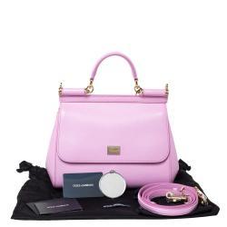 Dolce & Gabbana Pink Leather Medium Miss Sicily Bag