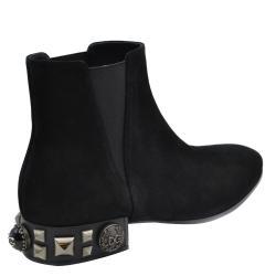 Dolce and Gabbana Black Napoli Beatle Boots Size EU 35
