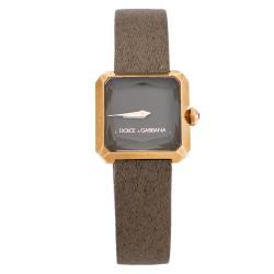 Dolce & Gabbana Beige 18K Rose Gold Sofia Women's Wristwatch 24 mm