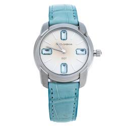 Dolce & Gabbana Silver Gray Stainless Steel DG7 Gems Women's Wristwatch 34 mm
