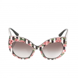 Dolce & Gabbana Rose Printed/ Black Gradient DG4321-F Rose Collection Cat Eye Sungalsses