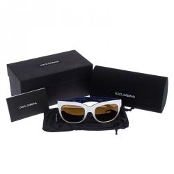 Dolce and Gabbana Bicolor/Bronze Mirrored DG 4272 Wayfarer Sunglasses
