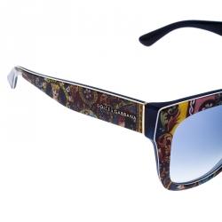 Dolce & Gabbana Multicolor Printed/Blue DG 3036/19 Cat Eye Sunglasses