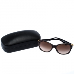Dolce & Gabbana Brown Leopard Print Gradient DG4163P Square Sunglasses