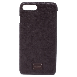 Dolce and Gabbana Navy Burgundy Leather iPhone 7/8 Plus Case