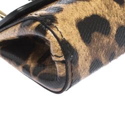 Dolce & Gabbana Leopard Print Leather Miss Sicily Key Chain