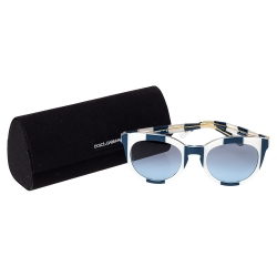 Dolce & Gabbana Blue/White Stripe DG4249 Sunglasses