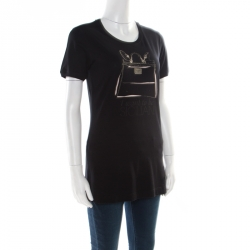 Dolce and Gabbana Black I want to be Sicilian Bag Printed T-Shirt M