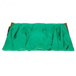 Dolce and Gabbana Green Satin Miss Lady Clutch