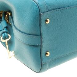 Dolce & Gabbana Powder Blue Leather Padlock Shoulder Bag