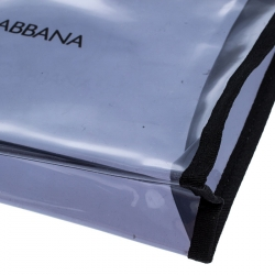 Dolce and Gabbana Black PVC and Leather Pouch