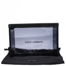 Dolce & Gabbana Clear Black PVC Swimsuit Pouch