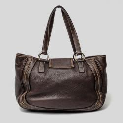 Dolce and Gabbana Brown Leather Tote