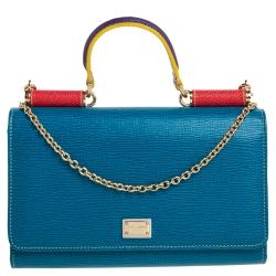 Dolce & Gabbana Multicolor Sicily Lipstick Wallet on Chain