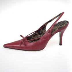 Dolce and Gabbana Red Leather Pointed Toe Slingback Sandals Size 36