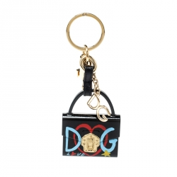 Dolce and Gabbana Lucia Black Bag Charm Key Chain