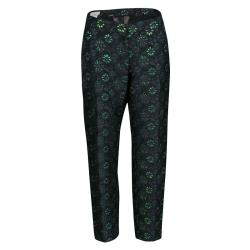 Dries Van Noten Cordo Metallic Floral Brocade Trousers M