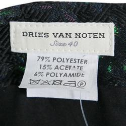 Dries Van Noten Cordo Metallic Floral Brocade Trousers M