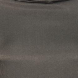 Dries Van Noten Olive Green Satin Zipped High Neck Dolman Sleeve Dress  L