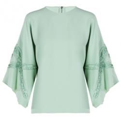 Elie Saab Mint Wide-Sleeved Top M