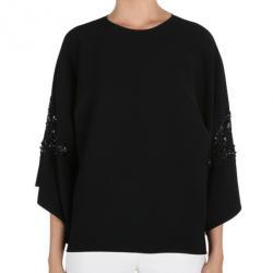Elie Saab Black Wide-Sleeved Top L