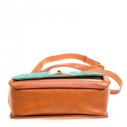 حقيبة إيميليو بوتشي يد علوية جلد وكانفاس/ جلد ثعبان متعددة الألوان